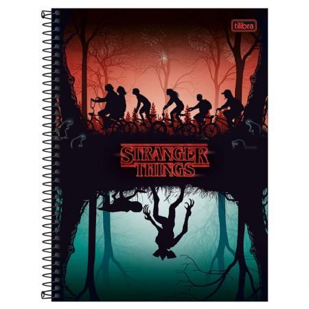 Caderno espiral capa dura universitário 1x1 - 80 folhas - Stranger Things - 3 - Tilibra