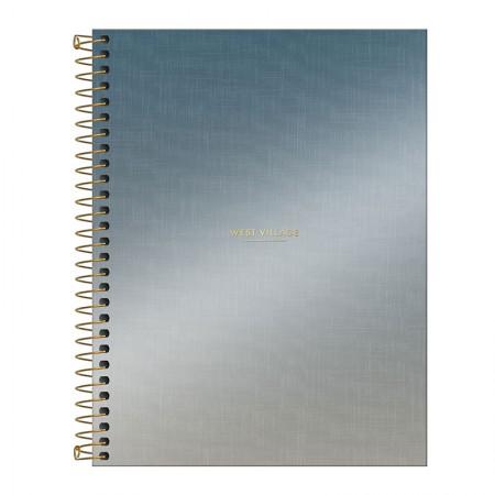 Caderno colegial capa dura 1x1 - 80 folhas - West Village Metalizada - 1 - Tilibra