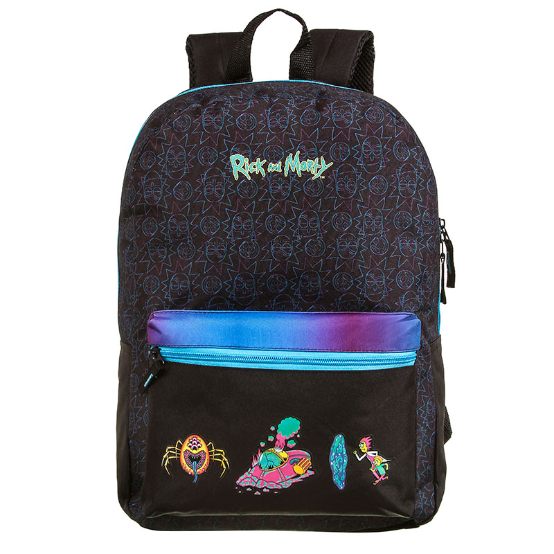 Mochila escolar grande sem roda - 37521/20 - Rick And Morty - Dermiwil