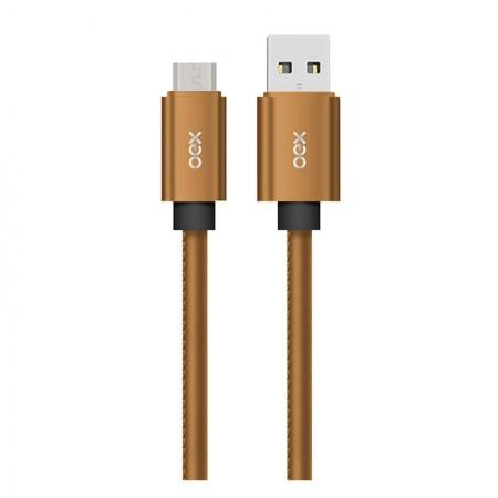 Cabo de sincronização/recarga micro USB smartphones Latte 1M - CC300/CL - Caramelo - Oex