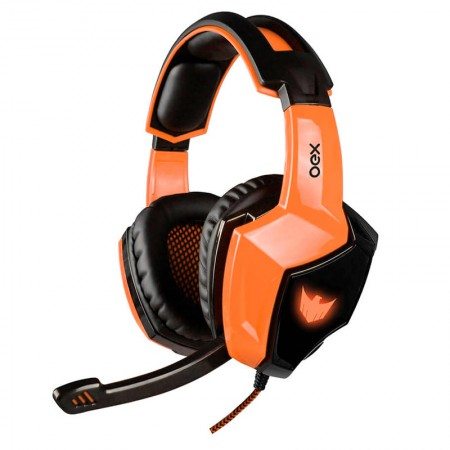 Headset USB Gamer Eagle Surround 7.1 Led laranja - HS401 - Oex