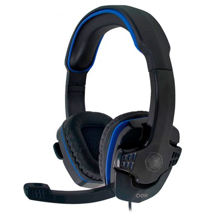 Headset P2 Gamer Stalker azul - HS209 - Oex