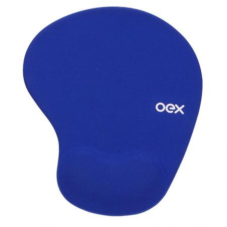 Mouse pad com apoio em gel confort azul - MP200/AZ - Oex