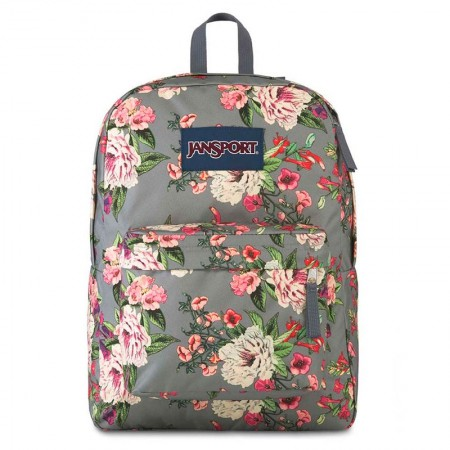Mochila escolar Superbreak Grey Bouquet - T5015U4 - Jansport