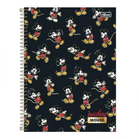 Caderno espiral capa dura universitário 10x1 - 160 folhas - Mickey - 4 - Tilibra