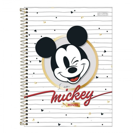 Caderno espiral capa dura universitário 10x1 - 160 folhas - Mickey - 2 - Tilibra