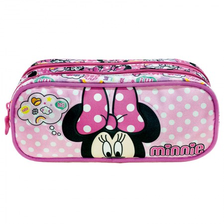 Estojo escolar duplo com ziper - 8935/20 - Minnie Magic Bow - Xeryus