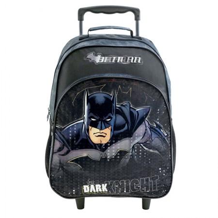 Mochila escolar grande com rodas - 8830/20 - Batman Wickey - Xeryus