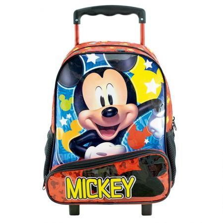 Mochila escolar grande com rodas - 8961/20 - Mickey - Xeryus