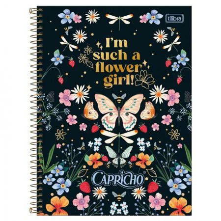 Caderno espiral capa dura universitário 1x1 - 80 folhas - Capricho - 4 - Tilibra