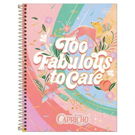 Caderno espiral capa dura universitário 1x1 - 80 folhas - Capricho - 3 - Tilibra