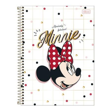 Caderno espiral capa dura universitário 10x1 - 160 folhas - Minnie - 2 - Tilibra