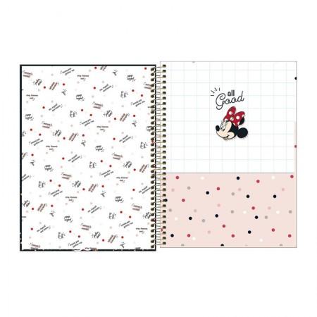 Caderno espiral capa dura universitário 1x1 - 80 folhas - Minnie - 4 - Tilibra