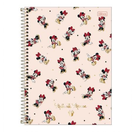Caderno espiral capa dura universitário 1x1 - 80 folhas - Minnie - 3 - Tilibra