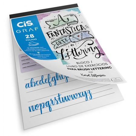 Bloco de exercícios lettering A4 180g - com 28 folhas - Cis