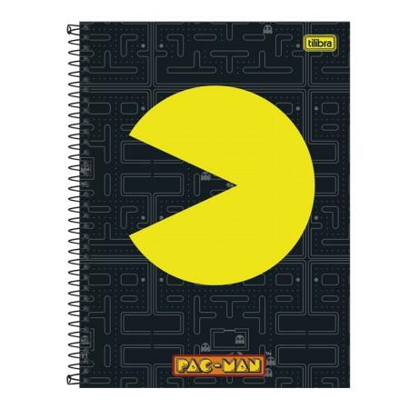 Caderno espiral capa dura universitário 10x1 - 160 folhas - Pac-Man Clássico - Capa 1 - Tilibra