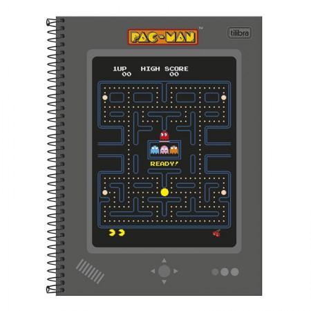 Caderno espiral capa dura universitário 10x1 - 160 folhas - Pac-Man Clássico - Capa 4 - Tilibra
