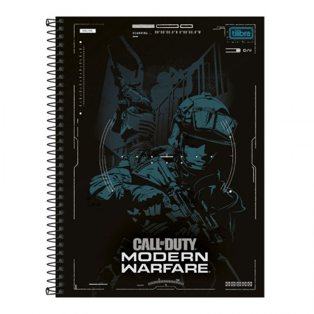 Caderno espiral capa dura universitário 10x1 - 160 folhas - Call of Duty - Capa 4 - Tilibra