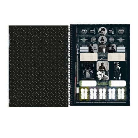 Caderno espiral capa dura universitário 1x1 - 80 folhas - The Last of Us - Capa 2 - Tilibra