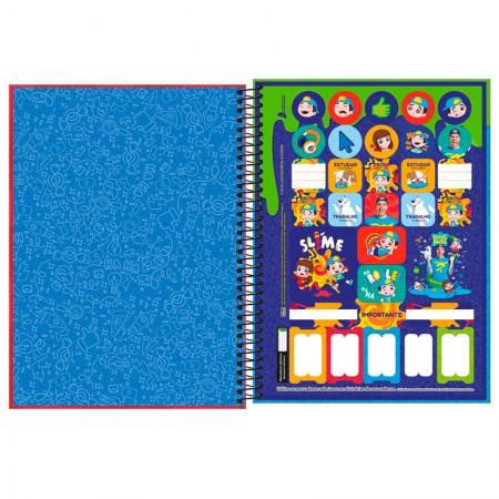 Caderno espiral capa dura universitário 1x1 - 80 folhas - Luccas Neto - Verde - Tilibra