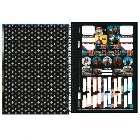 Caderno espiral capa dura universitário 1x1 - 80 folhas - Far Cry - Capa 1 - Tilibra