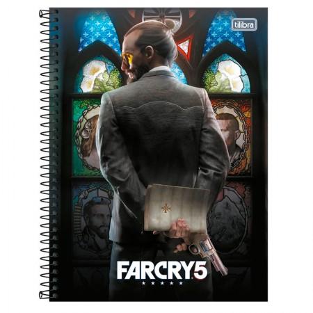 Caderno espiral capa dura universitário 1x1 - 80 folhas - Far Cry - Capa 3 - Tilibra