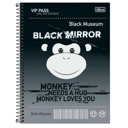 Caderno espiral capa dura universitário 1x1 - 80 folhas - Black Mirror - Capa 1 - Tilibra