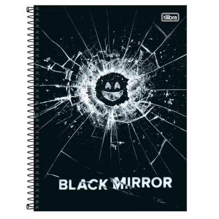 Caderno espiral capa dura universitário 1x1 - 80 folhas - Black Mirror - Capa 2 - Tilibra