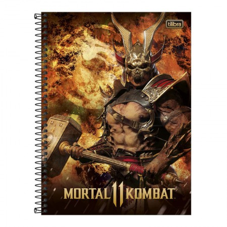 Caderno espiral capa dura universitário 1x1 - 80 folhas - Mortal Kombat - Capa 3 - Tilibra
