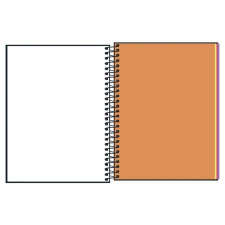 Caderno capa dura colegial 1x1 Neon Kori 80 Fls - Tilibra