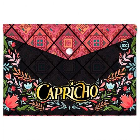 Envelope plástico com botão A5 - 2887 - Capricho New Boho - Dac