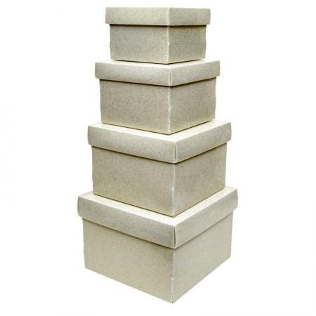 Kit caixa organizadora mini com 4 peças - Ouro Glitter - 2231.AU - Dello