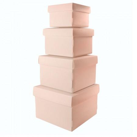 Kit caixa organizadora mini com 4 peças - Rosa - 2230.W - Dello