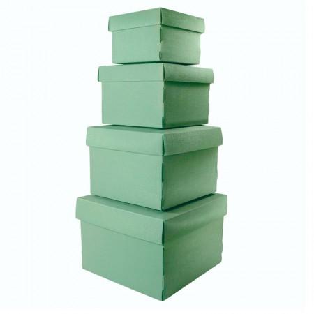 Kit caixa organizadora mini com 4 peças - Verde - 2230.V1 - Dello