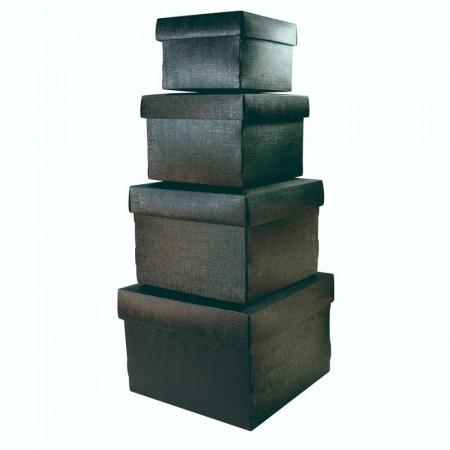 Kit caixa organizadora mini com 4 peças - Preto - 2230.P - Dello