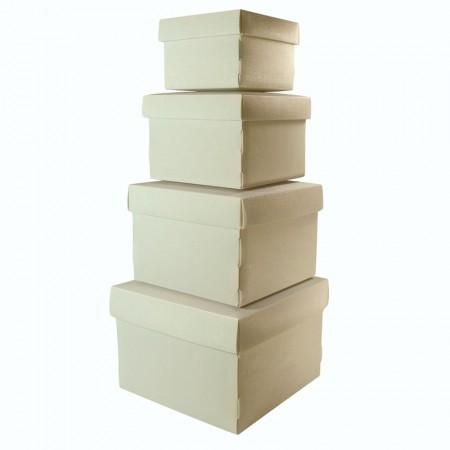 Kit caixa organizadora mini com 4 peças - Cinza - 2230.G - Dello