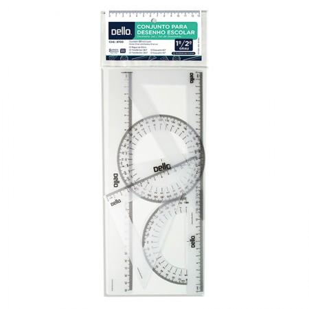 kit para desenho flexível  - 8700.H - 5 peças - Dello