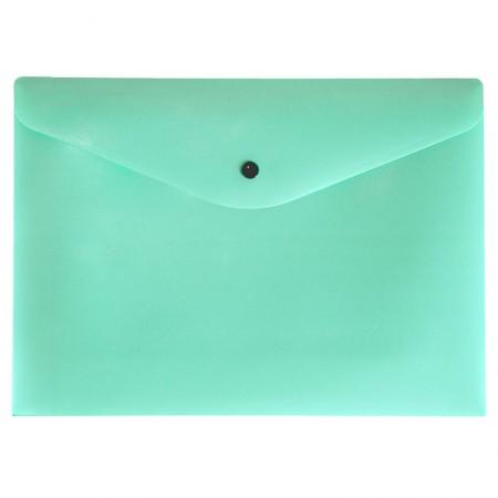 Envelope plástico com botão A4 - 0012.VP - Verde Pastel - Dello