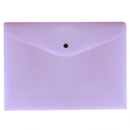 Envelope plástico com botão A4 - 0012.LP - Lilás Pastel - Dello