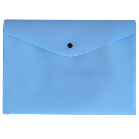 Envelope plástico com botão A4 - 0012.BP - Azul Pastel - Dello
