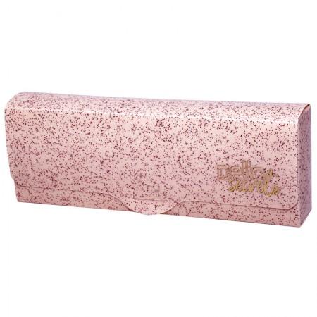 Estojo escolar plastico simples - Secrets - Rosa Glitter - 8801.W - Dello