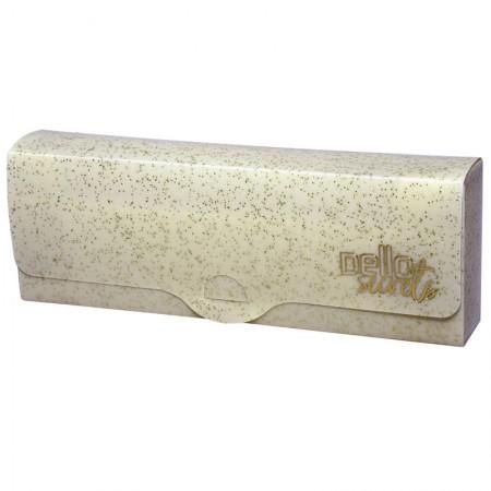Estojo escolar plastico simples - Secrets - Ouro Glitter - 8801.AU - Dello