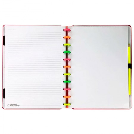 Caderno Inteligente grande Neon Vibes CIGD4061 Yasmin Galvão
