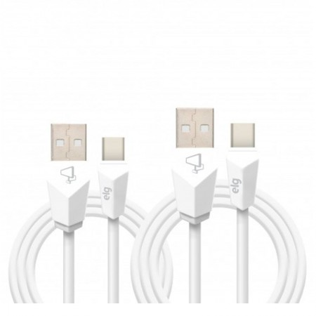 Cabo de sincronização/recarga USB Tipo-C lightning 1M + 2M - CMBC12WH - Branco - Elg