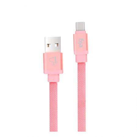 Cabo sincro e recarga USB canvas TipoC 1M CNVC10PK Rosa Elg