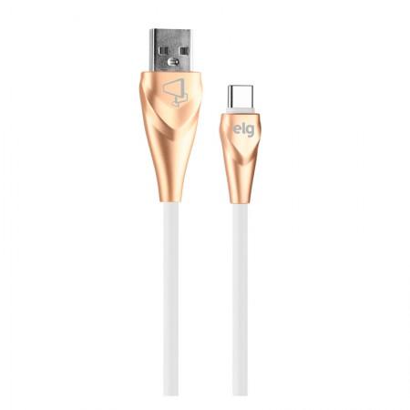 Cabo de sincronização/recarga USB Tipo-C emborrachado lightning 1M - ALCWH - Dourado - Elg