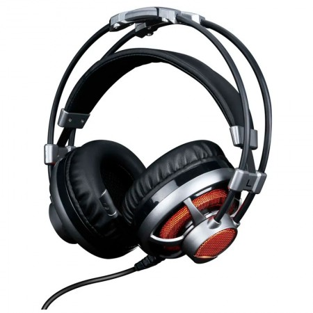 Headset USB Gamer Surround Sound 7.1 extreme confort Led laranja - HGSS71 - Elg