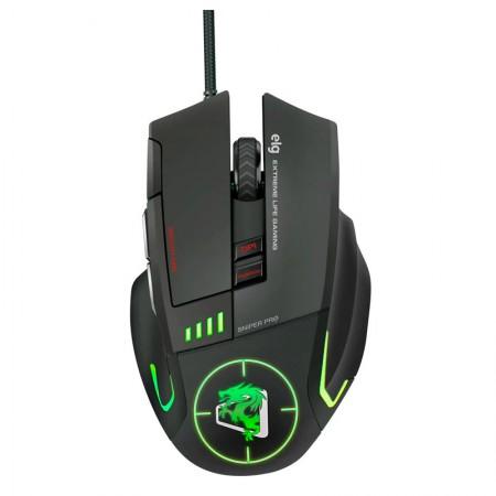 Mouse USB Gamer Sniper Pro Led com 8 botões 5200 DPI - MGSP - Elg