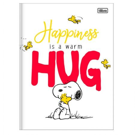 Caderno brochurão capa dura universitário 1x1 - 80 folhas - Snoopy - Capa 1 - Tilibra