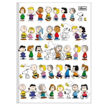 Caderno brochurão capa dura universitário 1x1 - 80 folhas - Snoopy - Capa 3 - Tilibra